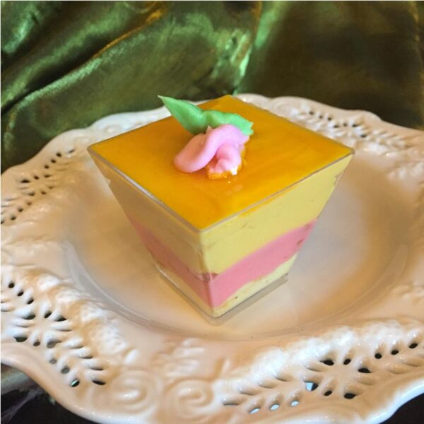 CANDIED ROSE WHITE CHOCOLATE MANGO MOUSSE