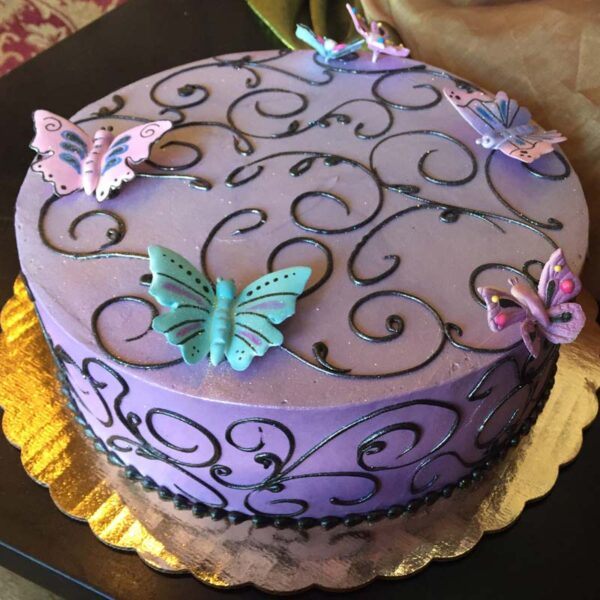 SWIRLING BUTTERFLIES CAKE