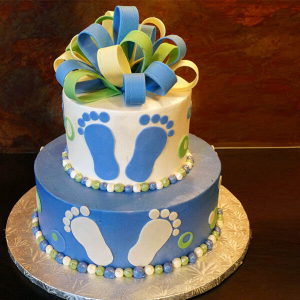 TIERED BABY FOOTPRINTS