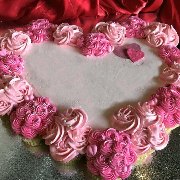 CUPCAKE HEART CAKE