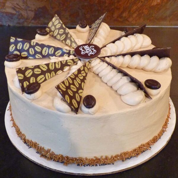 Yellow Mocha Rum Cake