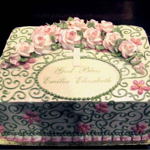 ROSE FLORAL SWIRLS CAKE