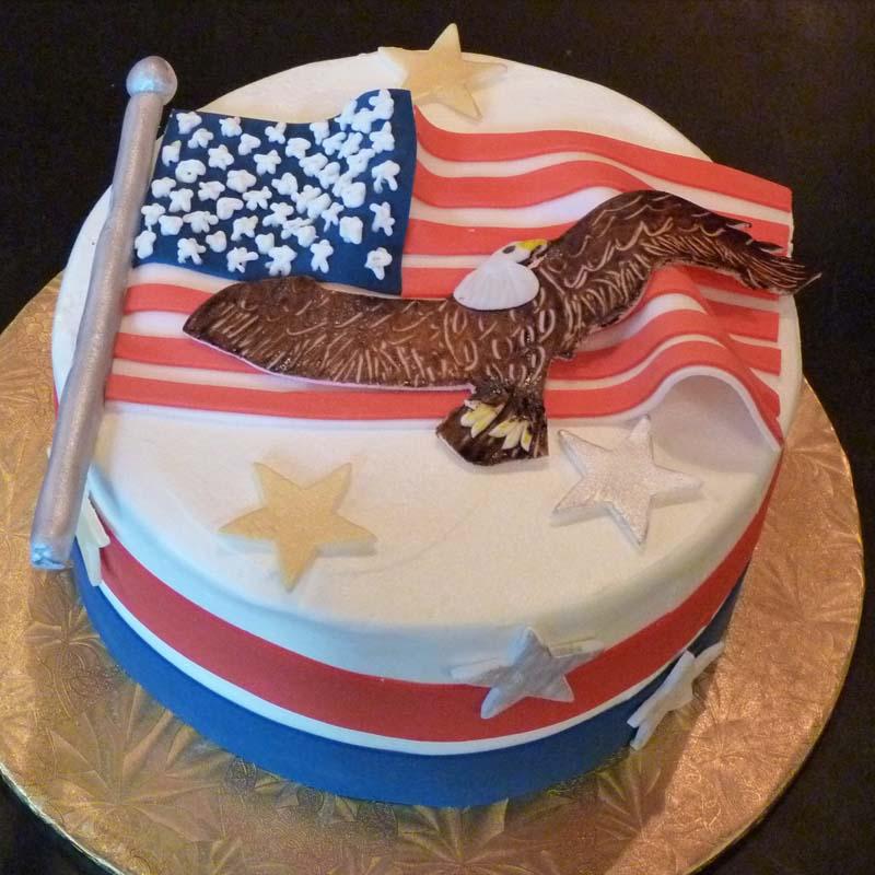 Wondrous A 140 Patriotic Flag Cake Amphora Bakery Funny Birthday Cards Online Fluifree Goldxyz