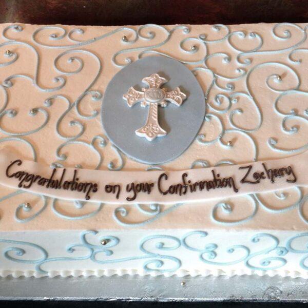SWIRL CROSS CAKE