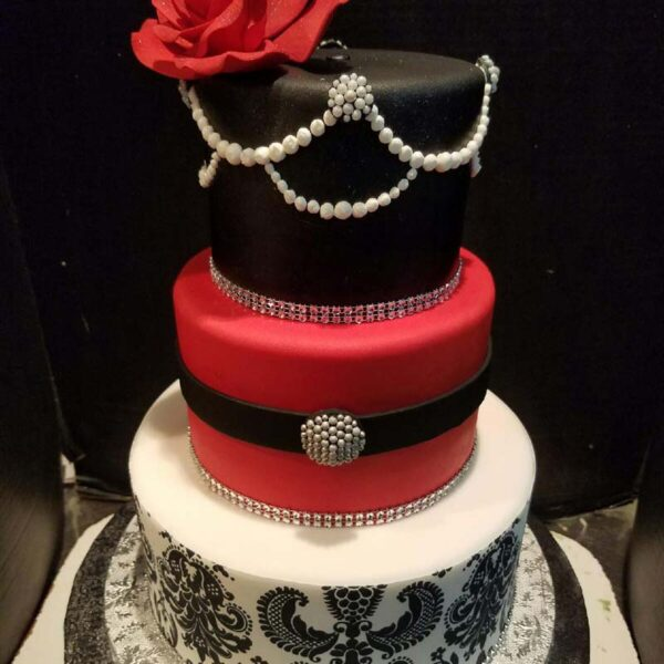 DAMASK TIERED CAKE