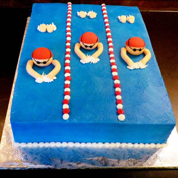 SWIM MEET CAKE