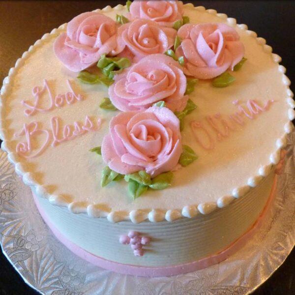 FLORAL CROSS CAKE