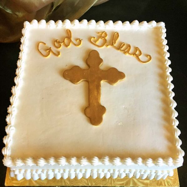 GOLDEN CROSS CAKE