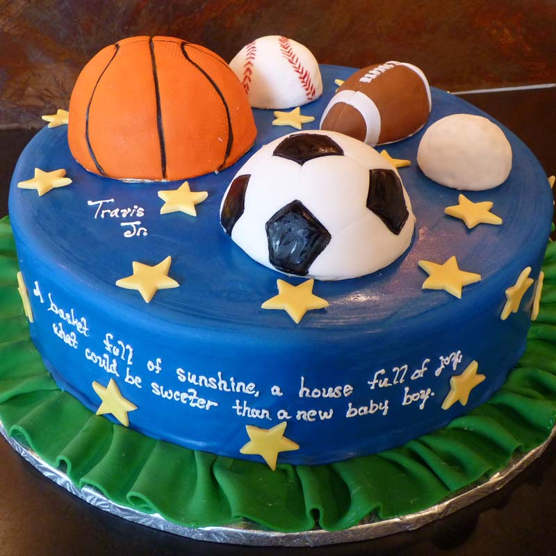 Sensational C 71 Sports Ball Cake Amphora Bakery Personalised Birthday Cards Veneteletsinfo