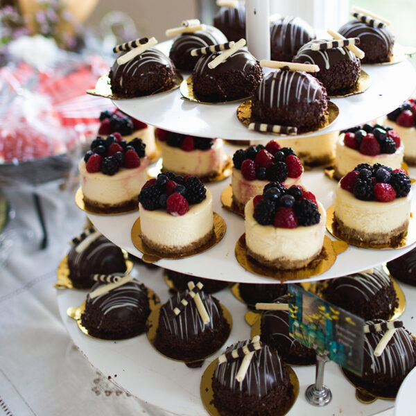 Berry Cheesecakes & Chocolate Hazelnut Domes