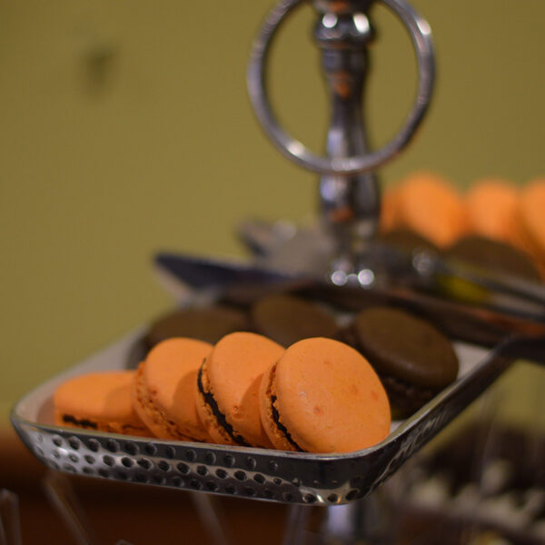 Chocolate Ganche andChocolate Orange Macarons