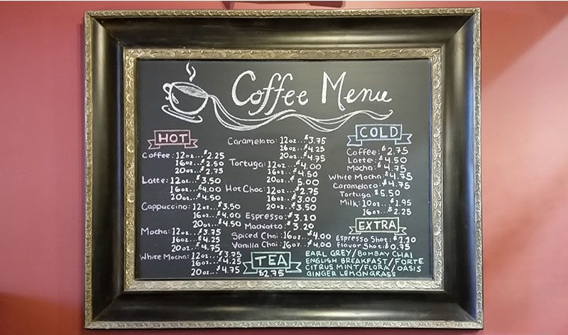 Bakery Cafe' Menu