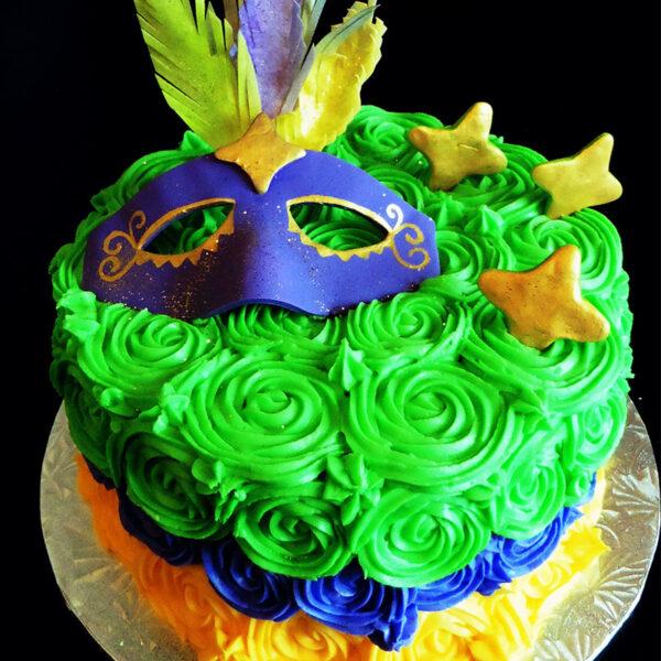 Rose Swirl Mask