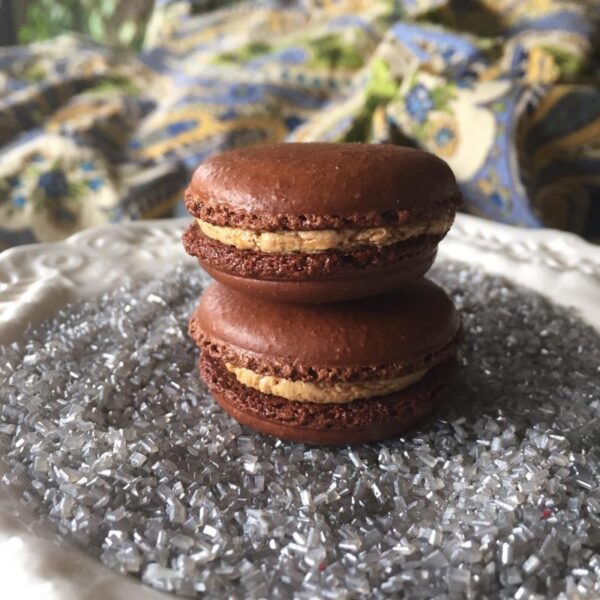 Chocolate Salted Caramel Macaron